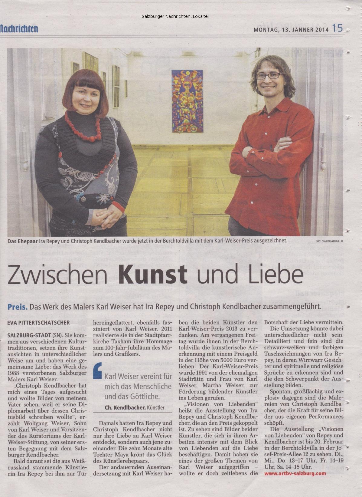 Salzburger Nachrichten, Lokales, Montag, 13. Jänner 2014, Seite 15